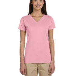 Ladies' 4.4 oz., 100% Organic Cotton Short-Sleeve V-Neck T-Shirt Thumbnail