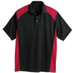 Spirit Racing Colorblocked Moisture-Free Mesh Sport Shirt Thumbnail