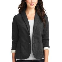 Ladies Fleece Blazer Thumbnail