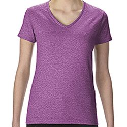 Ladies'   Heavy Cotton™ 5.3 oz. V-Neck T-Shirt Thumbnail