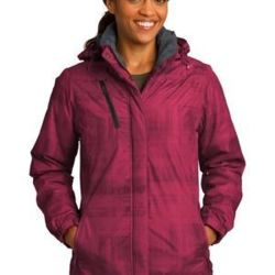 Ladies Brushstroke Print Insulated Jacket Thumbnail