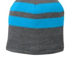 Fleece Lined Striped Beanie Cap Thumbnail