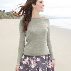 Women's Kaitlyn Gauze Knit Long Sleeve Pullover Thumbnail