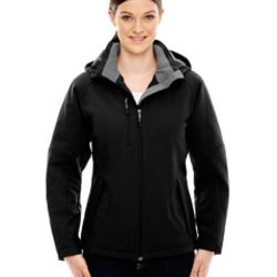 Ladies' Glacier Insulated Three-Layer Fleece Bonded Soft Shell Jacket with Detachable Hood Thumbnail