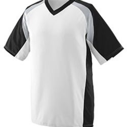 Youth Wicking Polyester V-Neck Short-Sleeve Jersey with Inserts Thumbnail