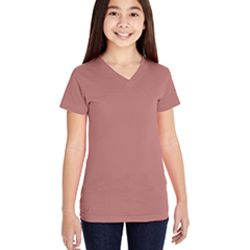 Girls' V-Neck Fine Jersey T-Shirt Thumbnail