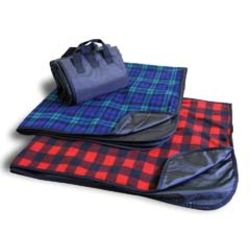 Fleece/Nylon Plaid Picnic Blanket Thumbnail