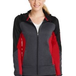 Ladies Tech Fleece Colorblock Full Zip Hooded Jacket Thumbnail