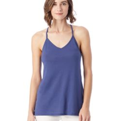 Ladies' Strappy Satin Jersey Tank Thumbnail