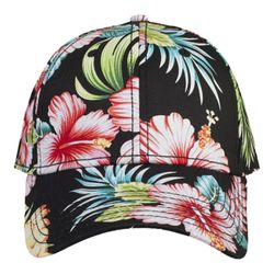 OTTO Hawaiian Pattern Cotton Twill Six Panel Low Profile Baseball Cap Thumbnail