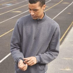 Dri Power® Quarter-Zip Cadet Collar Sweatshirt Thumbnail