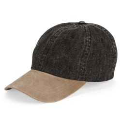 Washed Denim With Suede Bill Cap Thumbnail