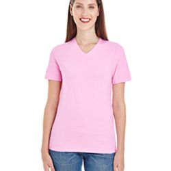 Ladies' Fine Jersey Short-Sleeve V-Neck Thumbnail