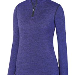 Ladies' Intensify Black Heather Quarter-Zip Pullover Thumbnail