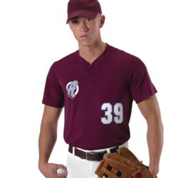Youth Baseball Two Button Henley Jersey Thumbnail