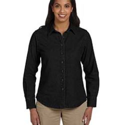 Ladies' 6.5 oz. Long-Sleeve Denim Shirt Thumbnail